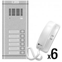 Zestaw domofonowy 6-rodzinny Genway WL-02NE-6