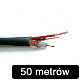 Kabel RG-59 z zasilaniem 2*0,5mm K-60 - 50m