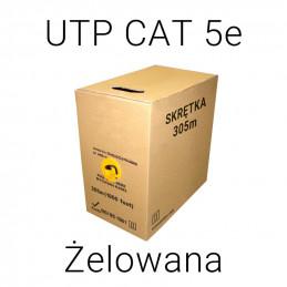 KABEL SKRĘTKA UTP CAT 5E CU ŻELOWANY - 305m