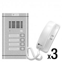 Zestaw domofonowy 3-rodzinny Genway WL-02NE-4