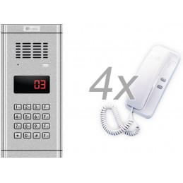 Zestaw domofonowy 4 rodzinny GENWAY WL-03NL