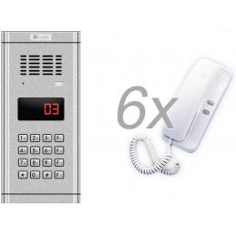 Zestaw domofonowy 6 rodzinny GENWAY WL-03NL