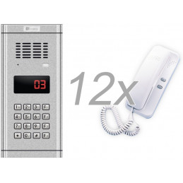 Zestaw domofonowy 12 rodzinny GENWAY WL-03NL