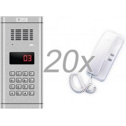 Zestaw domofonowy 20 rodzinny GENWAY WL-03NL