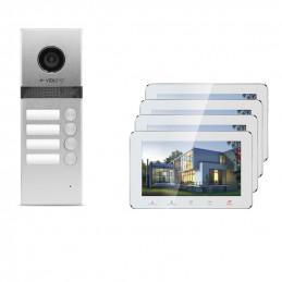 Wideodomofon 4-rodzinny VidiLine z obsługa smartfona   V-IP7-D4