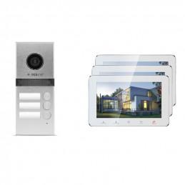 Wideodomofon 3-rodzinny VidiLine z obsługa smartfona   V-IP7-D3