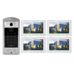 "VIDI-VDP-7SL-W-4 Wideodomofon z 4 monitorami 7"" White KOD KARTA"