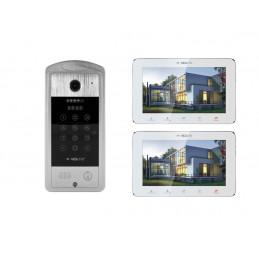 "VIDI-VDP-7SL-W-2 Wideodomofon z 2 monitorami 7"" White KOD KARTA"