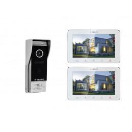 """VIDI-VDP-7S-W-2 Wideodomofon z 2 monitorami 7""""  White"""