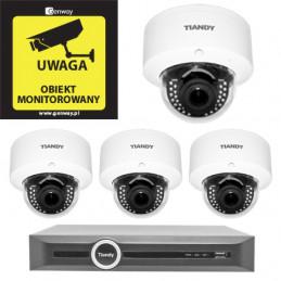 Domowy monitoring - 4 kamery Tiandy 4Mpix MOTOZOOM TC-NC44M