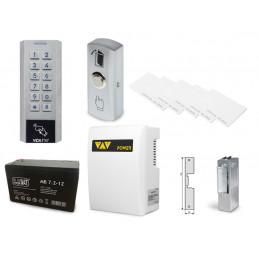 Zestaw kontrola dostępu zamek szyfrowy czytnik kart z zasilaniem awaryjnym VIDI-AC-3CSS