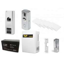Zestaw kontrola dostępu czytnik palca oraz  kart zbliżeniowych z zasilaniem awaryjnym VIDI-AC-F007