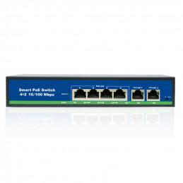 Switch 4 porty PoE + 2 porty Uplink 100Mb/s