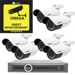Domowy monitoring - 6 kamer Tiandy 4Mpix MOTOZOOM TC-NC43M
