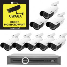 Domowy monitoring - 8 kamer Tiandy 4Mpix MOTOZOOM TC-NC43M