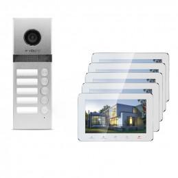 Wideodomofon 5-rodzinny VidiLine z obsługa smartfona   V-IP7-D5