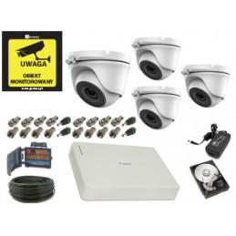VidiLine Monitoring 5Mpx 4 kamery kopułkowe 1TB PURZ