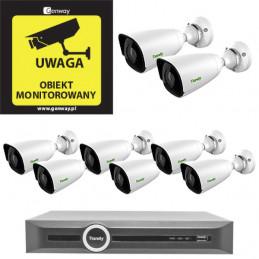 Zestaw monitoringu 8x kamera 5Mpix TC-NCL514S + Rejestrator TC-R3120