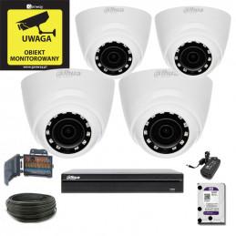 Zestaw Monitoringu DAHUA DHI-XVR4104HS-S2 + 4 x HAC-HDW1200R-0280B