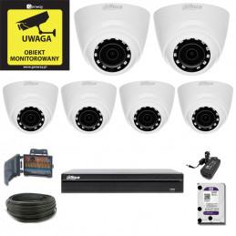 Zestaw Monitoringu DAHUA XVR1B08 + 6 x HAC-HDW1200R-0280B