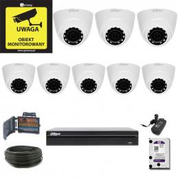 Zestaw Monitoringu DAHUA XVR1B08 + 8 x HAC-HDW1200R-0280B
