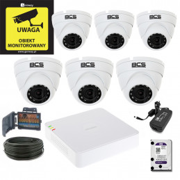 Zestaw Hikvision 6 x DS-2CE56D0T-IRM + Rejestrator DS-7108HGHI-F1