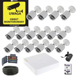 Zestaw Hikvision 16 x DS-2CE16D0T-IRF + Rejestrator DS-7116HQHI-F1/N