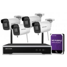 Zestaw do monitoringu Hikvision 4Mpx 4 kamery Wi-Fi NK44W0H-1T(WD)