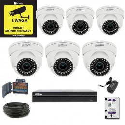 Zestaw Monitoringu DAHUA XVR1B08 + 6 x DH-HAC-HDW1220RP-VF