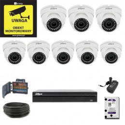 Zestaw Monitoringu DAHUA XVR1B08 + 8 x DH-HAC-HDW1220RP-VF