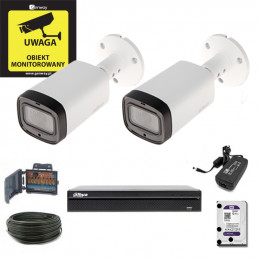 Zestaw Monitoringu Dahua Rejestrator + 2 x HAC-HFW1200R-Z-IRE6- MotoZoom