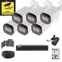 Zestaw Monitoringu Dahua XVR1B08 + 6 x HAC-HFW1200R-Z-IRE6- MotoZoom