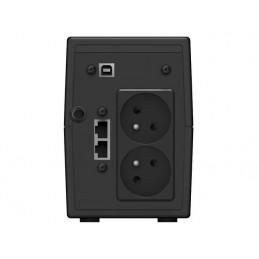 UPS DLA GRACZY POWERWALKER LINE-INTERACTIVE 850VA 2X 230V PL OUT, USB, LCD, 2X ŁADOWARKA USB