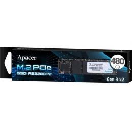 Dysk SSD Apacer AS2280P2 480GB M.2 PCIe Gen3 x2 2280 (1580/950 MB/s) 3D TLC
