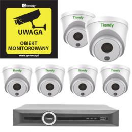 Gotowy do podłączenia zestaw 6x Kamera TC-C32HP + Rejestrator TC-R3120