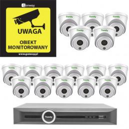 Gotowy do podłączenia zestaw 16x Kamera TC-C32HP + Rejestrator TC-R3120