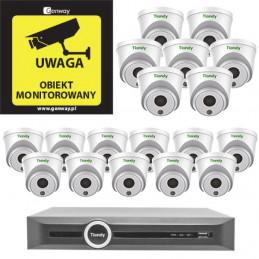 Gotowy do podłączenia Zestaw 18x Kamera TC-C32HP + Rejestrator TC-R3120
