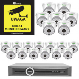 Gotowy do podłączenia Zestaw 20x Kamera TC-C32HP + Rejestrator TC-R3120