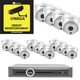 Gotowy do podłączenia zestaw 16x Kamera TC-C32HN + Rejestrator TC-R3120