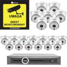 Gotowy do podłączenia zestaw 20x Kamera TC-C32HN + Rejestrator TC-R3120