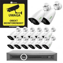 Gotowy do podłączenia zestaw 14x Kamera TC-C32JN + Rejestrator TC-R3120