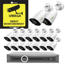 Gotowy do podłączenia zestaw 16x Kamera TC-C32JN + Rejestrator TC-R3120