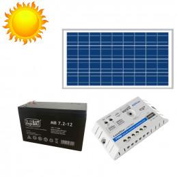 Zasilanie Fotowoltaiczne Panel Solarny Zestaw 12V 30W
