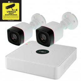 Gotowy Zestaw Monitoring Rejestrator 2x Kamera 720p Dysk 1TB