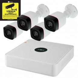 Gotowy Zestaw Monitoring Rejestrator 4x Kamera 720p Dysk 1TB