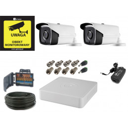 Zestaw monitoringu 5Mpx 2 kamery kabel 50m.