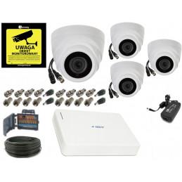 Gotowy do montażu kompletny zestaw 4 kamer 2Mpx FULL HD ONLINE