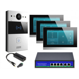 Akuvox zestaw jednorodzinny 3 monitory C315S Android