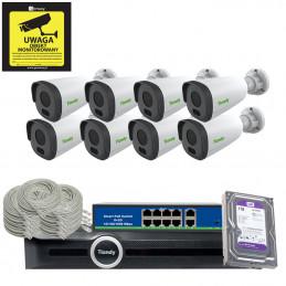 Gotowy do podłączenia zestaw 8x TC-NCL214C + Rejestrator TC-R3120