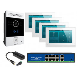 Akuvox zestaw jednorodzinny 4 monitory C313